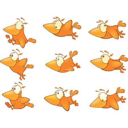Birdies set cartoon