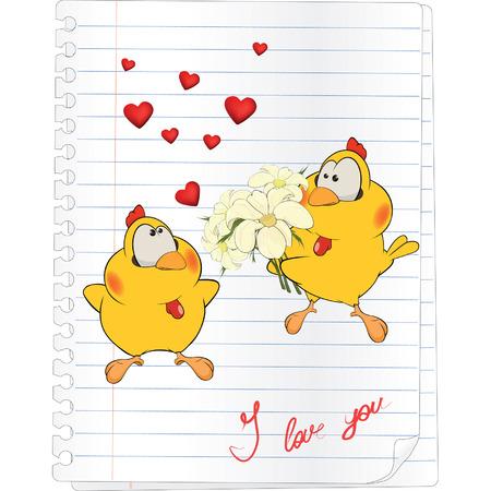 chicks in love cartoon
