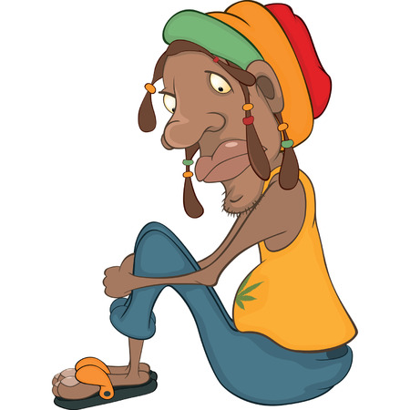rastaman: African man rastaman cartoon  Illustration