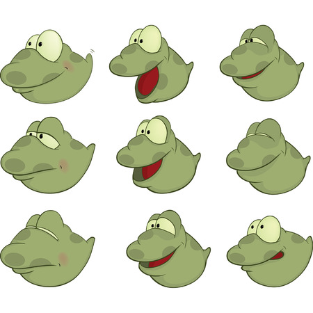 Set of Tadpoles Cartoons  Vector