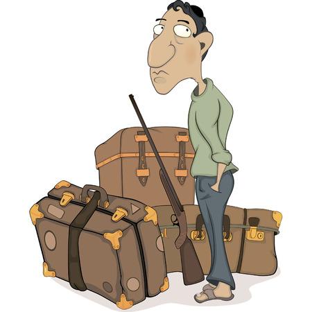 The traveler cartoon  Vector