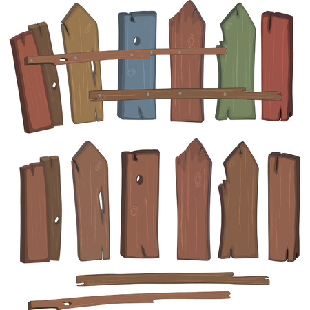 palisade: Wooden fence cartoon