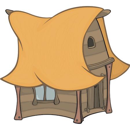 old barn: Divertente cartone animato Little House