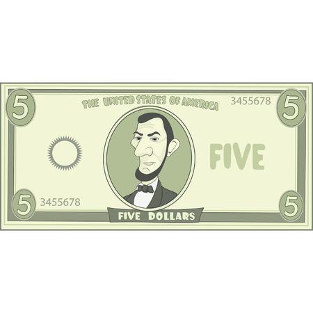 dólar desenho animado americano