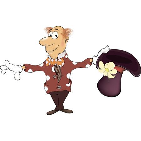 mentalist: Illustration of a magician gnome cartoon