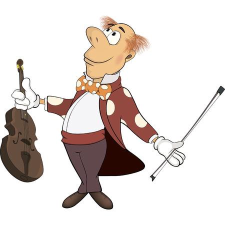a violinist cartoon