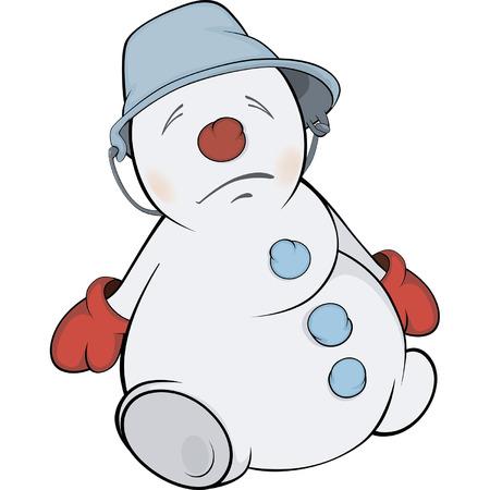 Christmas Snowball. Cartoon Illustration