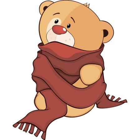stuffed: A stuffed toy bear cub cartoon Illustration