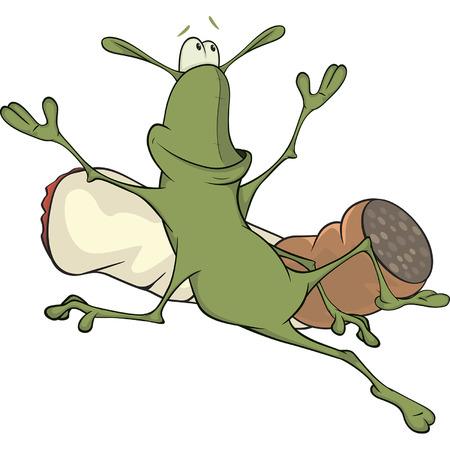 irritation: A cockroach and a cigarette cartoon