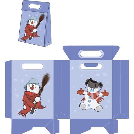 Christmas Snowball. Handbags packages pattern Illustration