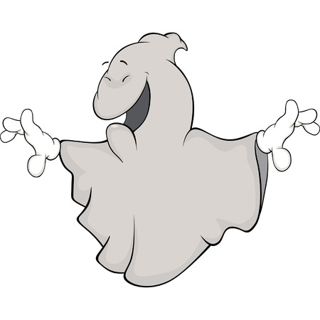 Ghost cartoon Illustration
