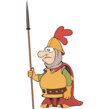 teutonic: Illustration of a cartoon knight