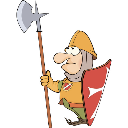 teutonic: Illustration of a cartoon knight
