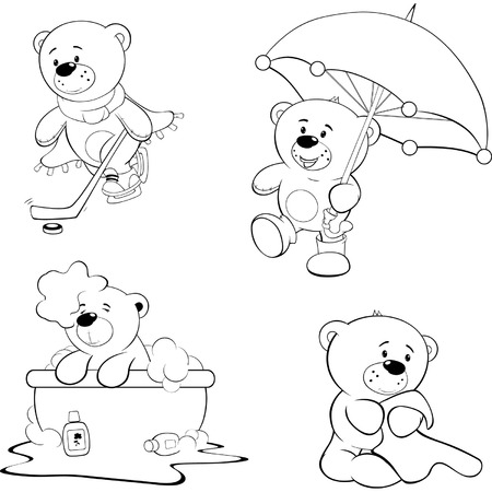 collect: A set of bears. Coloring book