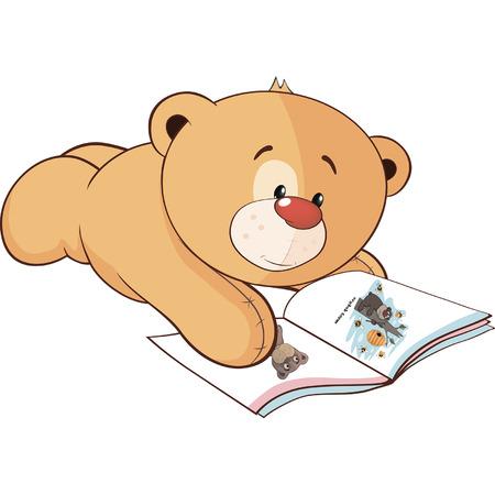 A stuffed toy bear cub cartoon Illustration