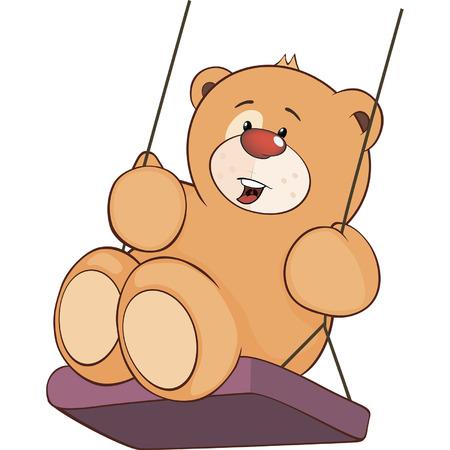 ourson: Un jouet en peluche caricature ourson Illustration