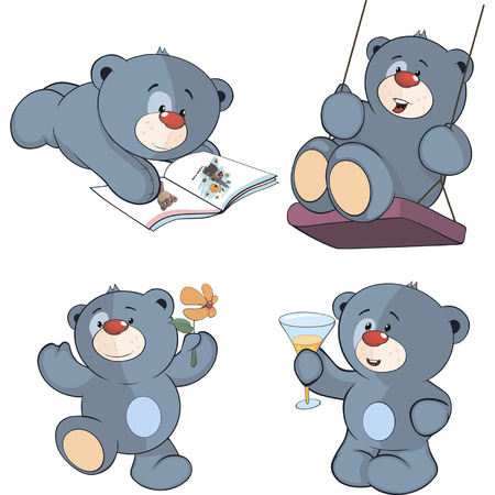 teddybear: A set of bears cartoon