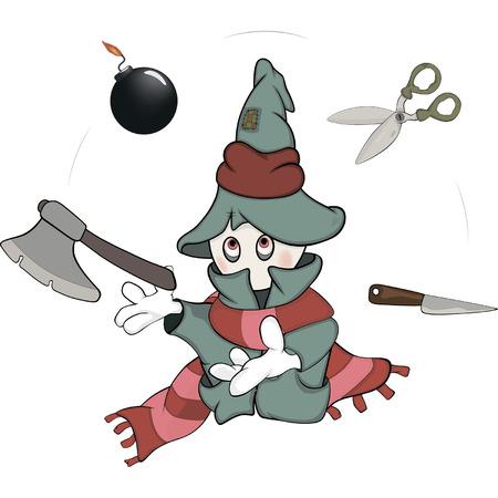 juggler: Ghost the juggler cartoon