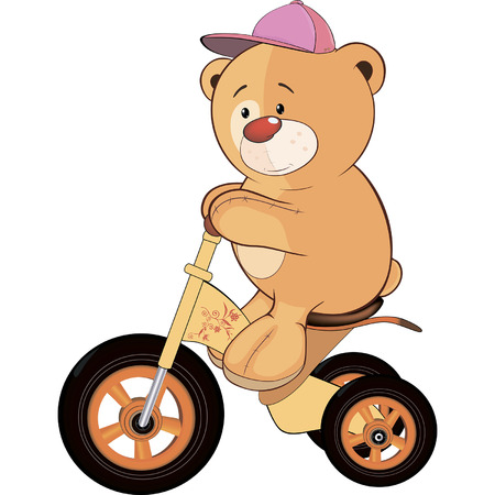 A stuffed toy bear cub and a children\\ Vector