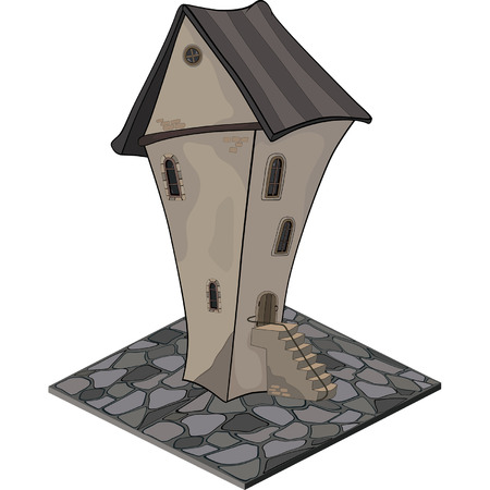 turret: A video game object: an old house