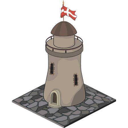 turret: A video game object: Watchtower Illustration