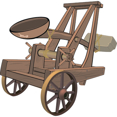 catapult: A video game object:catapult Illustration