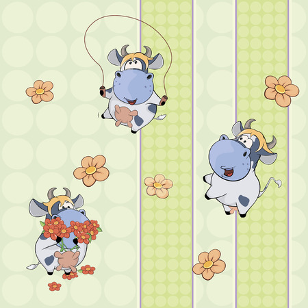 artful: A background with cows