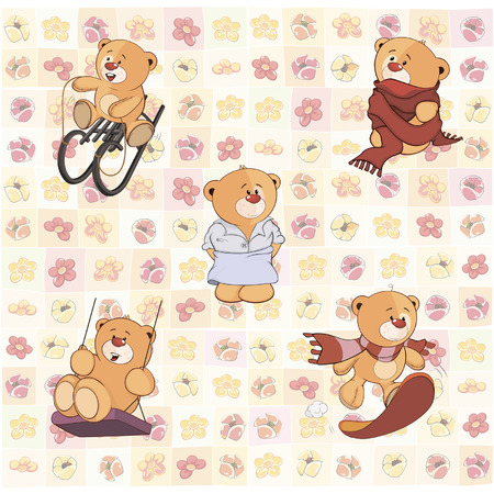 cuddly: wallpaper with stuffed bear cubs