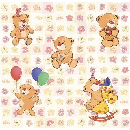 cubs: wallpaper with stuffed bear cubs