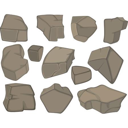 flint: stones set cartoon