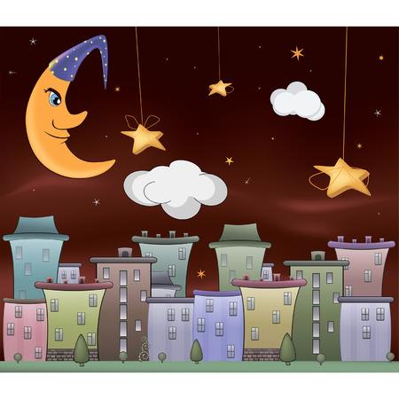boulevard: Night city cartoon