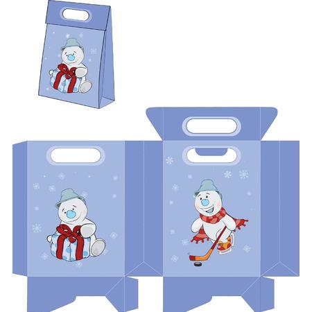 boule de neige: Snowball de No�l. paquets de sacs � main motif