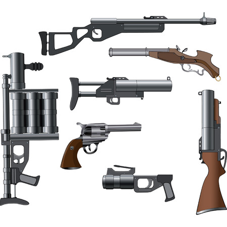 A military weapon set for a computer game