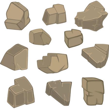 rubble: historieta piedras establecido
