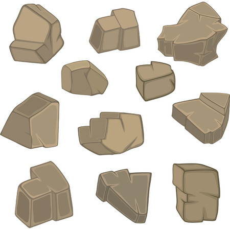 ore: stones set cartoon