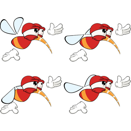 housefly: Cartoon character red fly insect