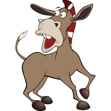 ass donkey: little burro Cartoon Illustration