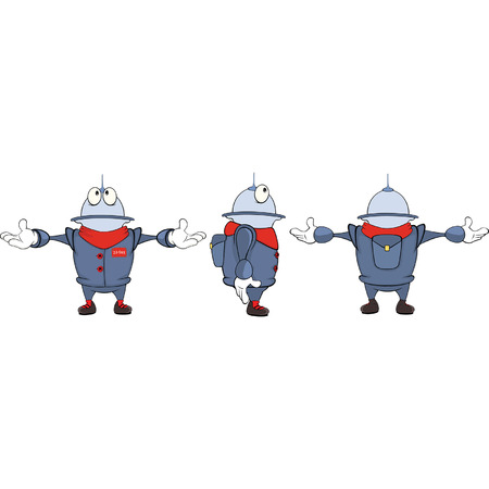 cute robot: Cartoon character cute robot for computer game
