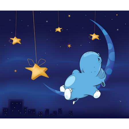 siesta: Fairy tale about hippo cartoon