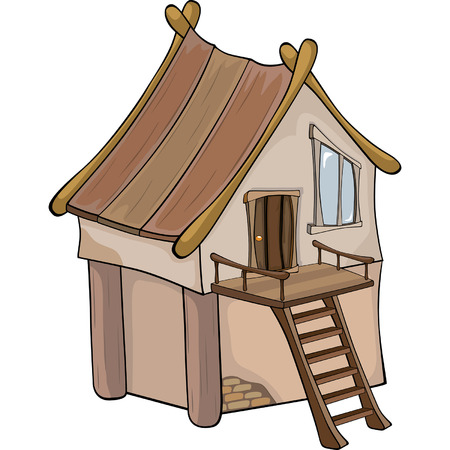 architecture bungalow: Funny Little House cartoon