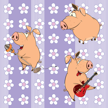 the vocalist: A background with pigs