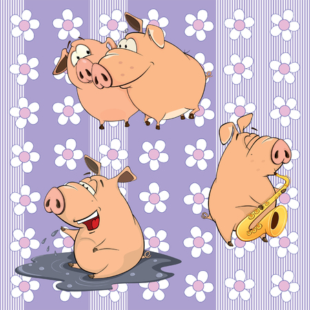 bog: A background with pigs