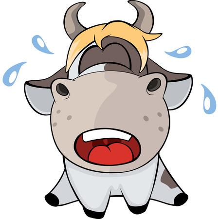 moo: A small cow. Cartoon