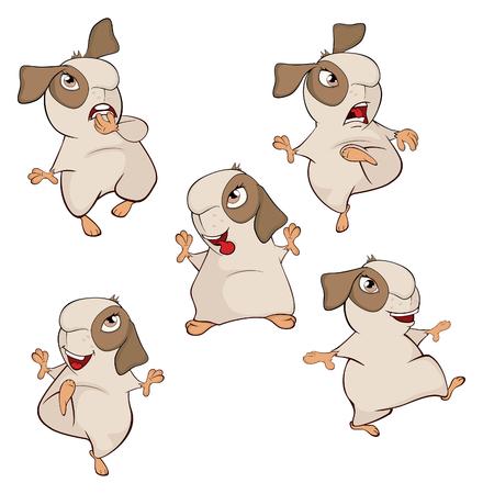 A set of a guinea pigs cartoon