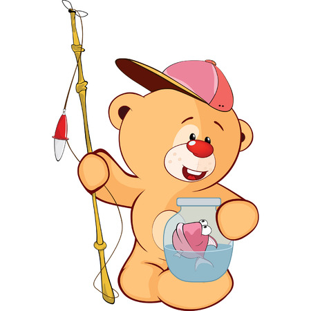stuffed: cute stuffed toy bear cub cartoon