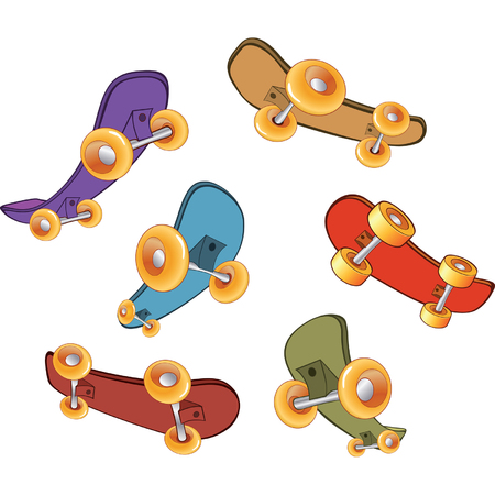 skateboard: set of skateboards