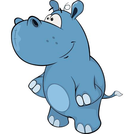 hipopotamo caricatura: peque�a historieta hipop�tamo