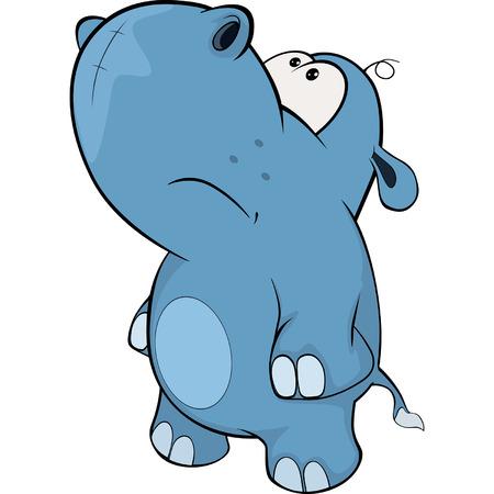 hipopotamo caricatura: pequeña historieta hipopótamo