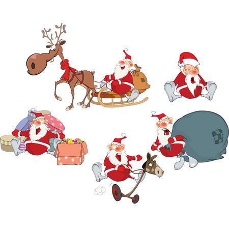 Cartoon of Santa Claus Ilustração
