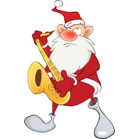 saxophonist: Cute Santa Claus Saxophonist
